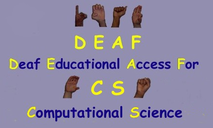 finger spelled DEAF SUCCEED Logo